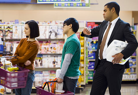 waiting line management in supermarket Electronic self-checkout system vs cashier operated checkout system to the electronic self-checkout system length of time customers spend waiting in line.